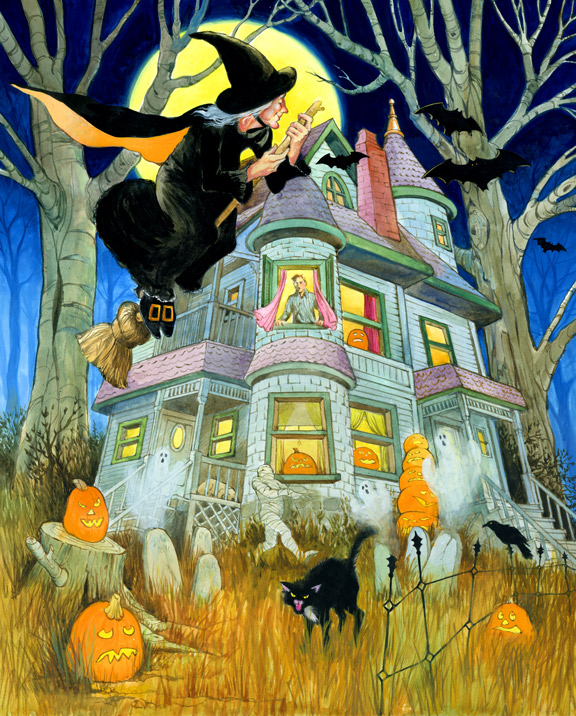 Halloween is the best Holiday to illustrate!
