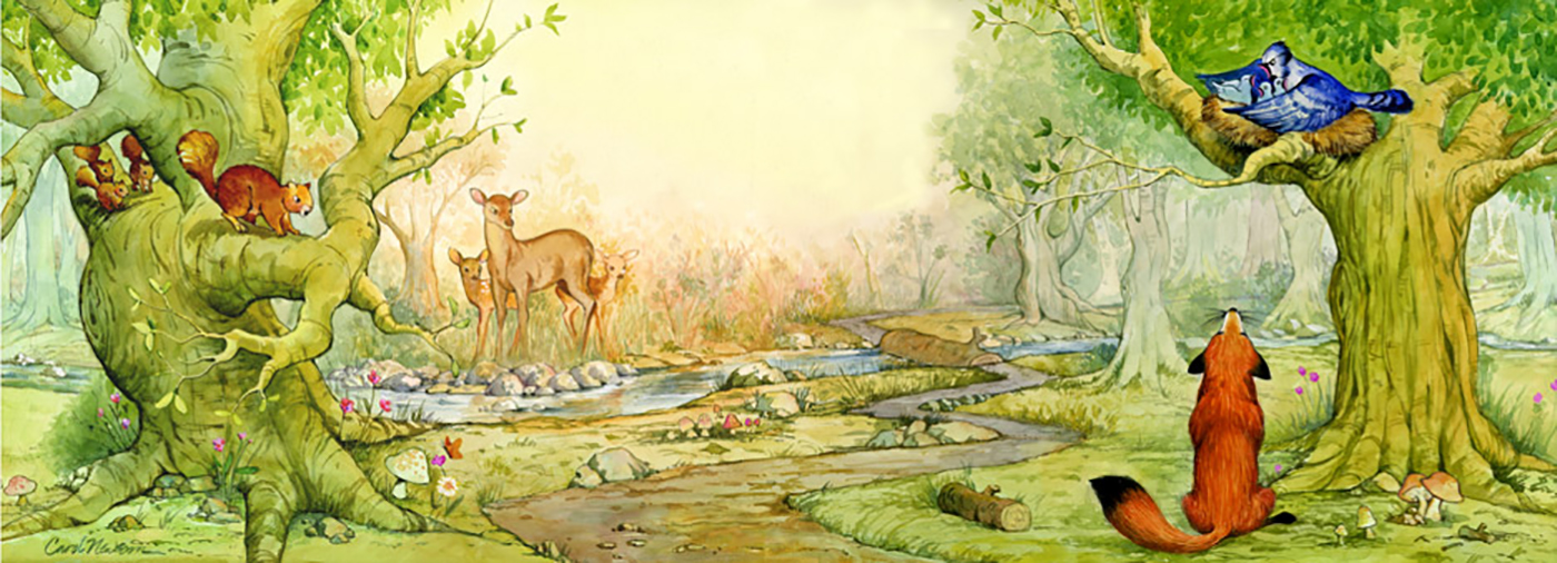 If you look closely, you'll see some of Aesop's Fables characters in this poster.