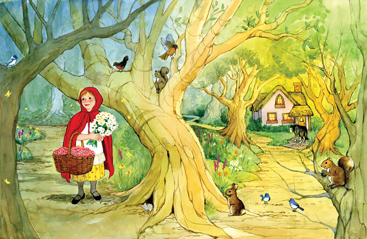 """From the Book """"Little Red Riding Hood"""". This book was published in Greece."""