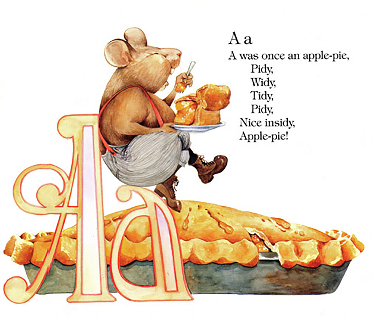 The Letter A from Edward Lear's Alphabet. Edward Lear wrote all the poems to help kids learn to read.