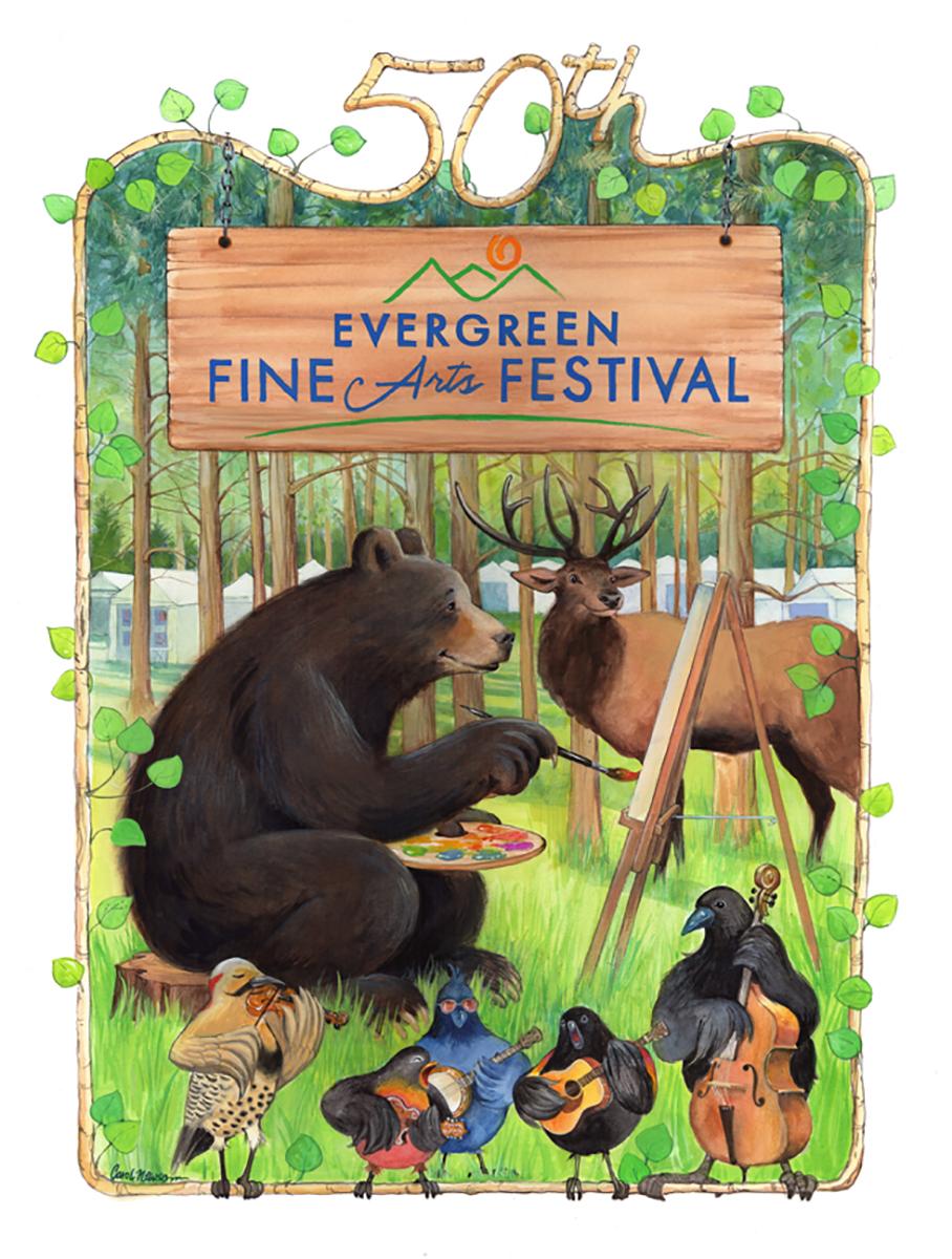A poster for the local Fine Arts Festival!