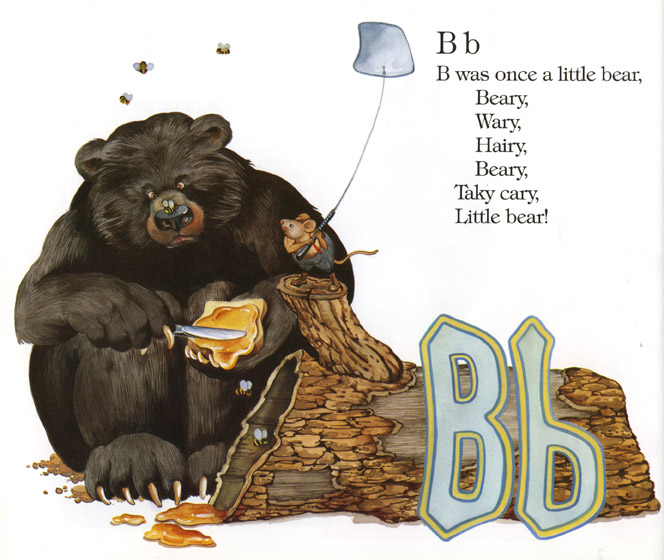 """The letter B from """"Edward Lear's Alphabet"""". Edward Lear was the tutor to the Queens children."""