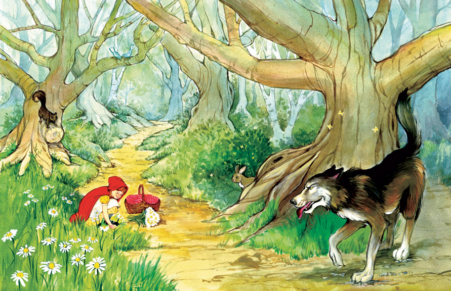 The most fun part about illustrating this book was painting the forest.