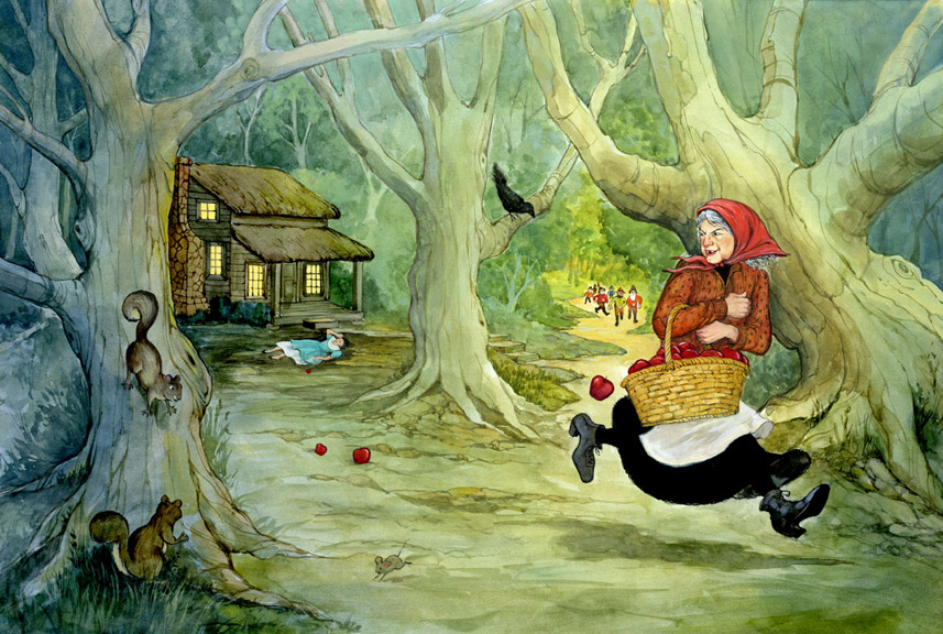 The witch has given Snow White a poison apple! She must escape before the dwarves come home!