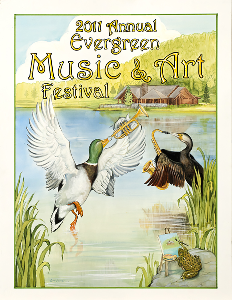 This is a Poster I did for the Evergreen Music Festival.
