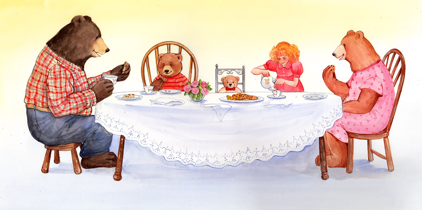 This book was a twist on the traditional Goldilocks story. The Three Bears go to a city and visit Goldilocks!