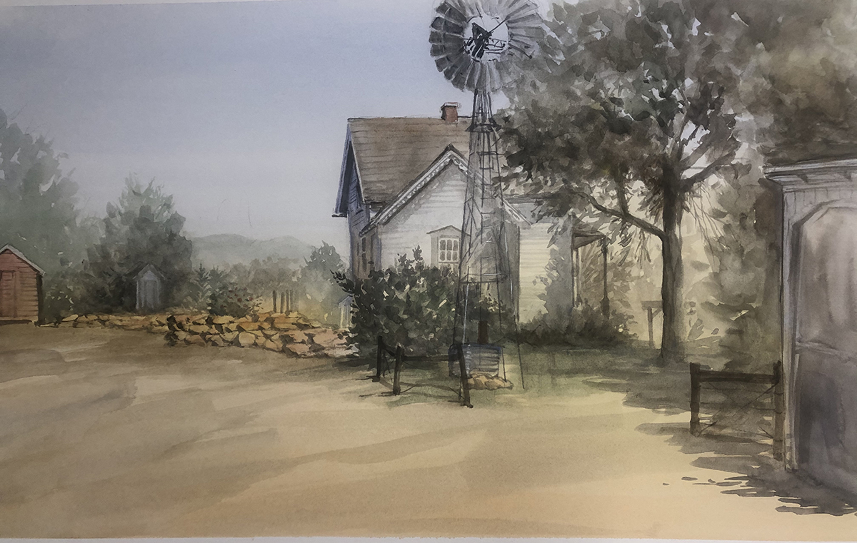 Another plein air painting done at the Lakewood Historic Park. Always a lovely place to paint.  Watercolor 12 x 17