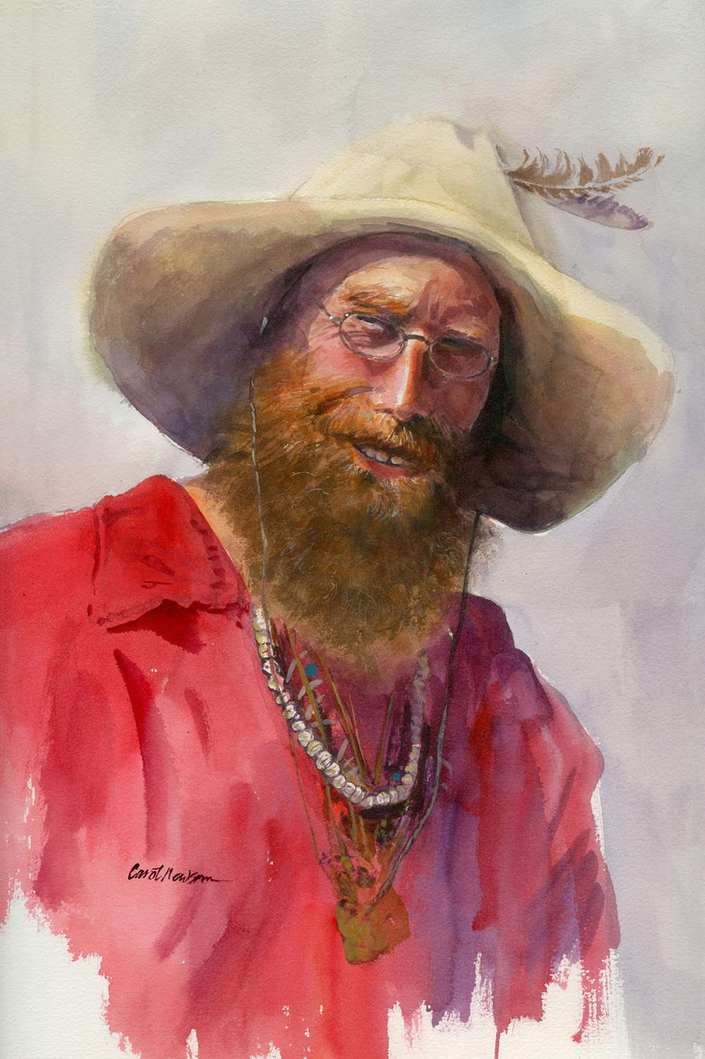 Well, he isn't a real Mountain Man, but he was playing one in the streets of Crested Butte in 2020.  18 x 24